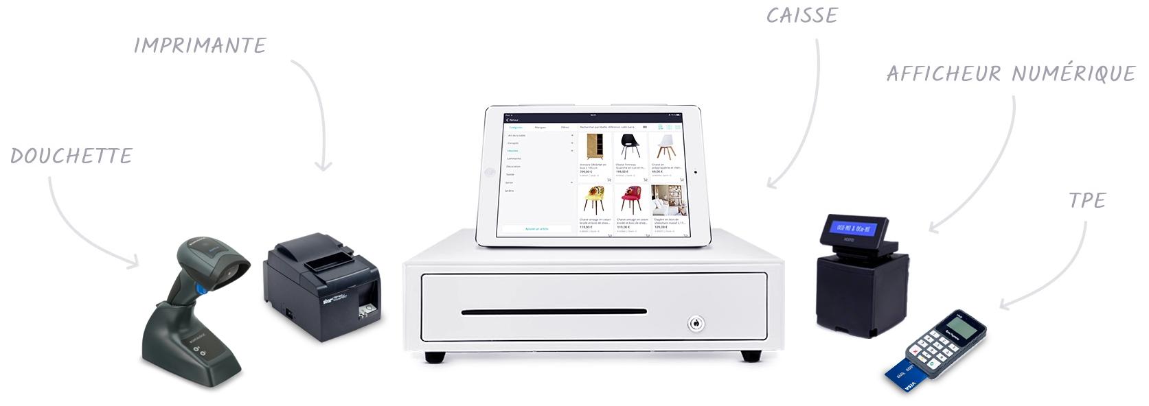 Le logiciel de caisse RoverCash est compatible avec de nombreux appareils de caisse.