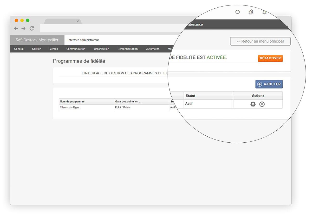 Le logiciel de caisse RoverCash permet une gestion approfondie de la fidélité.