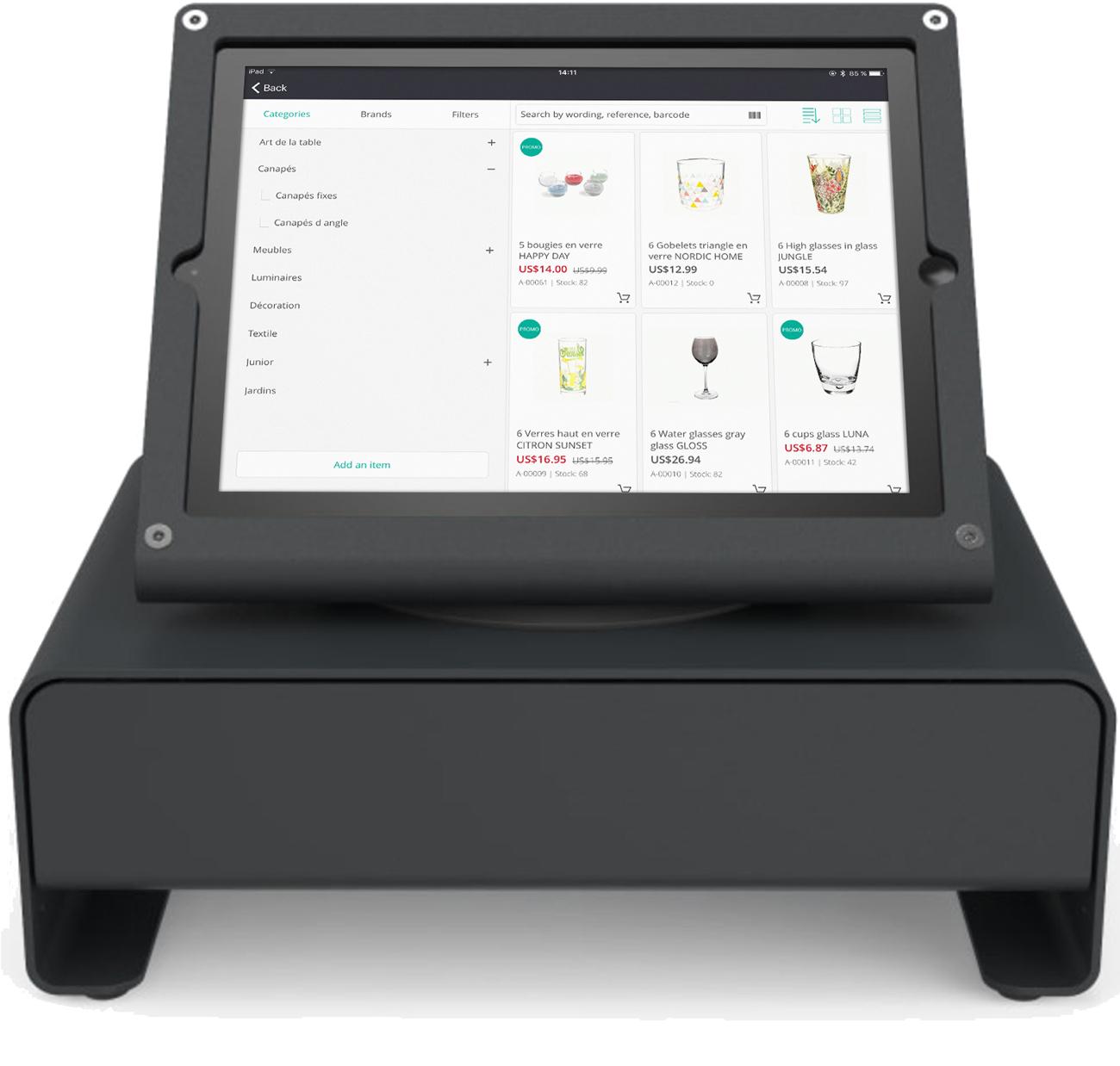 RoverCash, une caisse enregistreuse tactile sur tablette