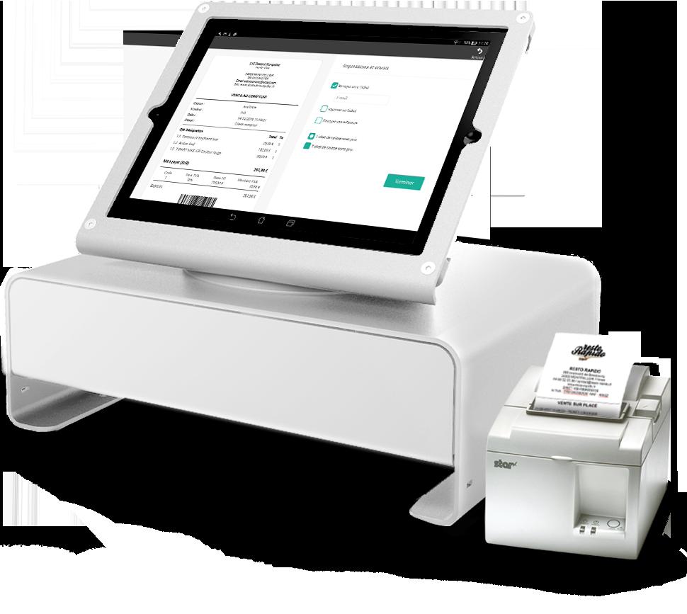 L'application de caisse se charge de la gestion des impressions des tickets de caisse.