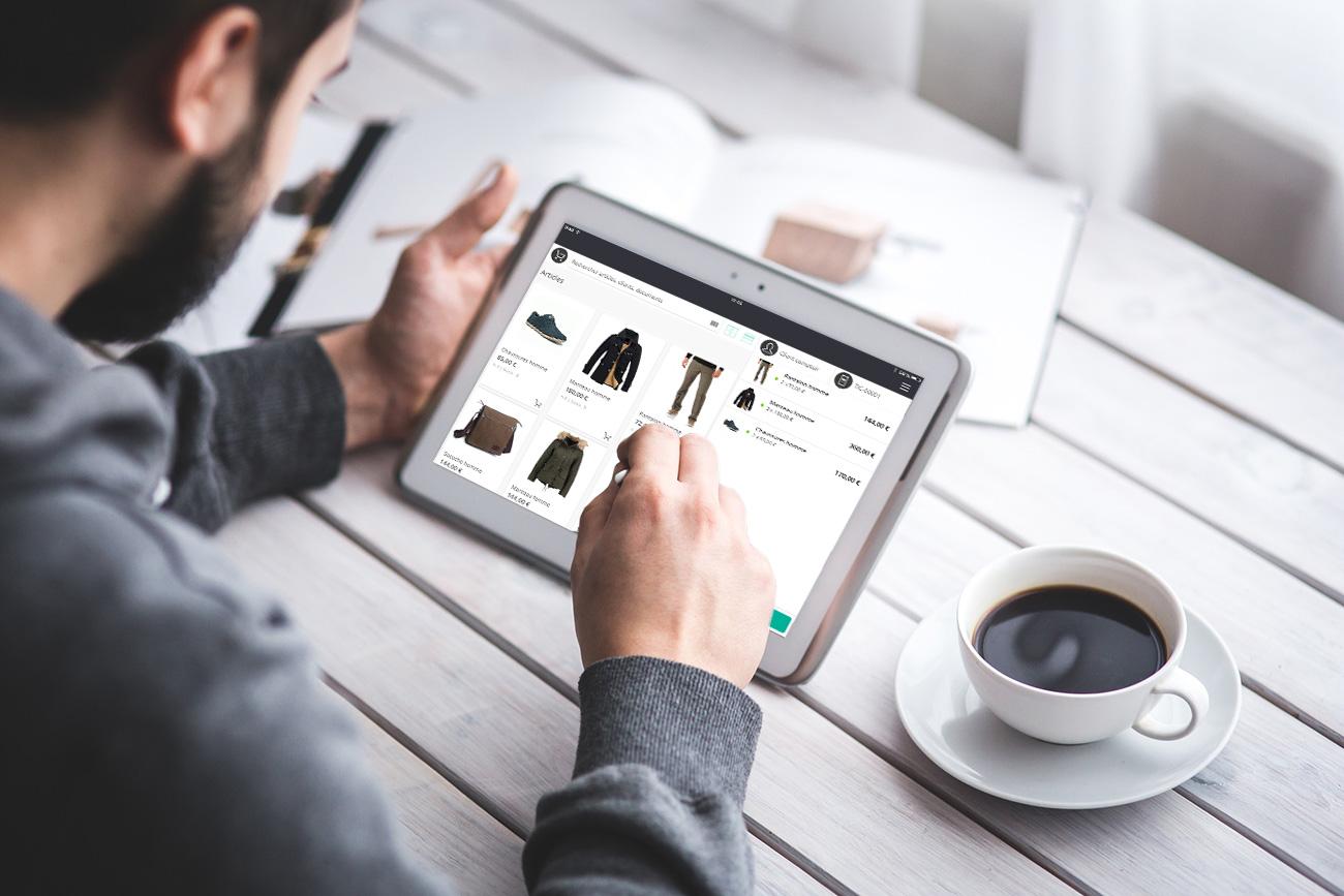 L'application de caisse RoverCash permet de connecter votre commerce.